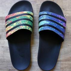 Slapi, sandale Adidas Originals 10US - Slapi barbati Adidas, Marime: 44, Culoare: Multicolor