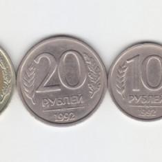 Rusia 1992-1993 Lot 6 monede, Europa