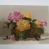 Trandafiri in vas de portelan - Goblen