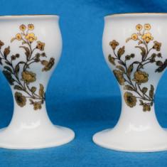 DOUA SFESNICE DIN PORTELAN KPM, MODEL DEOSEBIT L 74, Decorative