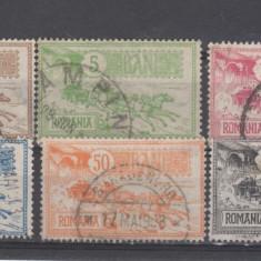 Romania 1903 Caisori 6 valori stampilate - Timbre Romania, Regi