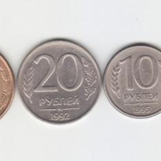 Rusia 1993 - 1992 Lot 6 monede, Europa