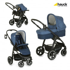 Set Carucior Soul Plus Trio Set Melange Navy - Carucior copii 3 in 1 Hauck