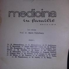 Carte - Medicina în familie, Marin Voiculescu, 1968, coperti groase, de colectie