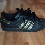 Adidas Superstar Gold Negru / Black (folositi de 5 ori) -marime 45 1/3 - Adidasi barbati