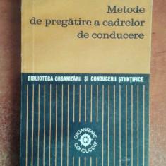 Metode de pregatire a cadrelor de conducere - Ovidiu Nicolescu - Carte Resurse umane