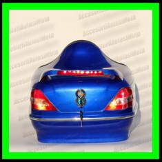 Topcase Moto LED tip Mercedes Portbagaj Cutie Casca Moto Scuter Atv - ALBASTRU - Top case - cutii Moto