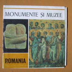 Monumente si muzee Romania foto color + harta