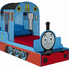 Pat locomotiva Thomas Worlds Apart - Patut lemn pentru bebelusi