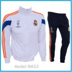 Trening REAL MADRID - Bluza si pantaloni conici - Modele noi - Pret Special 1030 - Trening barbati, Marime: S, Culoare: Din imagine
