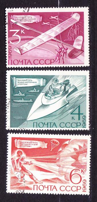 Timbre RUSIA 1969 = SPORTURI TEHNICE