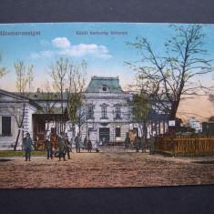 Sighetul  Marmatiei  -  Cazarma  comuna. Circulata  1917,  animata,  K.u.K., Printata