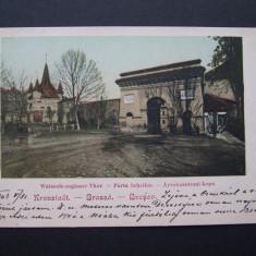 Brasov - Porta Scheilor, 1903. Nedivizata, animata clasica.(Poarta Scheilor), Necirculata, Printata