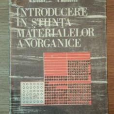 INTRODUCERE IN STIINTA MATERIALELOR ANORGANICE, VOL II, MATERIALE ANORGANICE de ION TEOREANU ... VASILE MOLDOVAN, 1987 - Carte Chimie