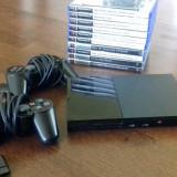 Consola Playstation 2 + 2 Controllere + 2 Microfoane + 11 Jocuri