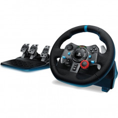 Volan cu pedale Logitech Driving Force G29 PC, PlayStation 3, PlayStation 4, Negru