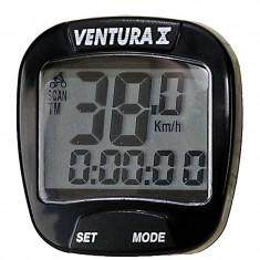 Bike Computer Cu Fir Ventura X 10 Functii NegruPB Cod:244550 - Piesa bicicleta