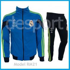 Trening REAL MADRID - Bluza si pantaloni conici - Modele noi - Pret Special 1035 - Trening barbati, Marime: S, M, L, Culoare: Din imagine