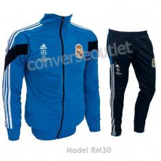 Trening REAL MADRID - Bluza si pantaloni conici - Modele noi - Pret Special 1038 - Trening barbati, Marime: S, Culoare: Din imagine