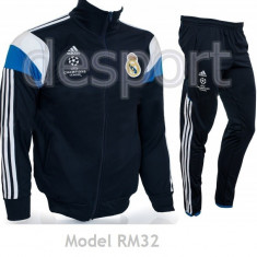 Trening REAL MADRID - Bluza si pantaloni conici - Modele noi - Pret Special 1028 - Trening barbati, Marime: S, L, Culoare: Din imagine