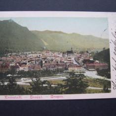 Brasov - Vedere. 1901, Circulata, nedivizata, clasica. - Carte Postala Transilvania pana la 1904, Printata