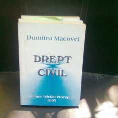 DREPT CIVIL - DUMITRU MACOVEI - Carte Drept civil