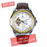 Ceas barbati TEVISE CP-19 automatic - LIVRARE GRATUITA - Ceas barbatesc, Elegant, Mecanic-Automatic, Otel, Piele, Repetitor minute