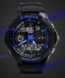Ceas SKMEI S-Shock rezistent la apa alarma calendar cronometru, Sport, Quartz, 30 m / 3 ATM