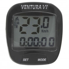 BIKE COMPUTER CU FIR VENTURA VI 6FUNCTIIPB Cod:244530 - Piesa bicicleta