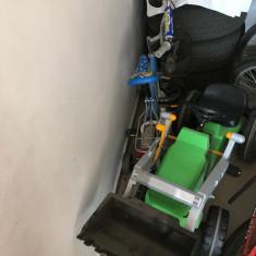 Tractoraș cu pedale, remorca și cupa