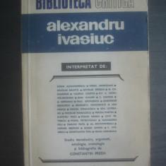 ''BIBLIOTECA CRITICA'' - ALEXANDRU IVASIUC
