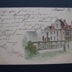 Brasov, circulata 1900, nedivizata, clasica. - Carte Postala Transilvania pana la 1904, Printata