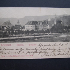 Brasov - Kronstadt - Brasso. Circulata 1900, nedivizata, clasica - Carte Postala Transilvania pana la 1904, Printata