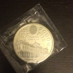 Moneda argint 2000 pesetas Spania 1995, stare buna, Europa