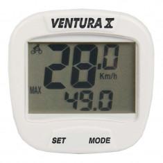 Bike Computer Cu Fir Ventura X 10 Functii AlbPB Cod:244554 - Piesa bicicleta