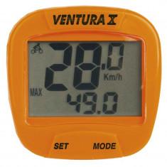 BIKE COMPUTER CU FIR VENTURA X 10 FUNCTII ORANGEPB Cod:244553 - Piesa bicicleta