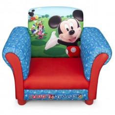 Fotoliu cu cadru din lemn Disney Mickey Mouse - Set mobila copii