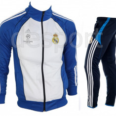 Trening REAL MADRID - Bluza si pantaloni conici - Modele noi - Pret Special 1123 - Trening barbati, Marime: S, M, Culoare: Din imagine