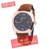 Ceas barbati CURREN CP-12 quartz - LIVRARE GRATUITA + CADOU, Elegant