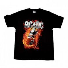 Tricou ROCK AC/DC - Devil Guitar, Marime: S