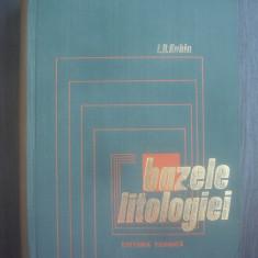 L. B. RUHIN - BAZELE LITOLOGIEI - Stiinta rocilor sedimentare