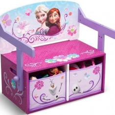 Mobilier 2 in 1 pentru depozitare jucarii Disney Frozen - Set mobila copii