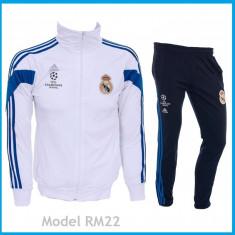 Trening REAL MADRID - Bluza si pantaloni conici - Modele noi - Pret Special 1033 - Trening barbati, Marime: S, Culoare: Din imagine