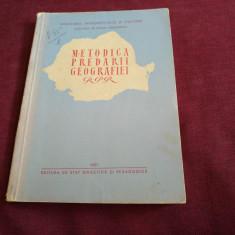 METODICA PREDARII GEOGRAFIEI RPR 1957