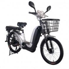 Bicicleta electrica Laser 2.0 48V 12Ah Autonomie 40Km ArgintiuPB Cod:E00010-5