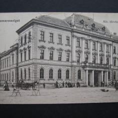 Sighetul Marmatiei - Tribunalul. Circulata 1916, animata. - Carte Postala Banat 1904-1918, Printata