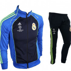 Trening REAL MADRID - Bluza si pantaloni conici - Modele noi - Pret Special 1037 - Trening barbati, Marime: S, M, Culoare: Din imagine