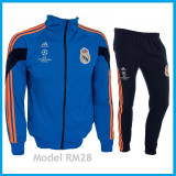 Trening REAL MADRID - Bluza si pantaloni conici - Modele noi - Pret Special 1032, S, Din imagine