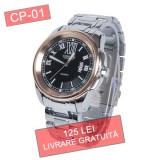 Ceas barbati CURREN CP-01 quartz - LIVRARE GRATUITA + CADOU, Casual