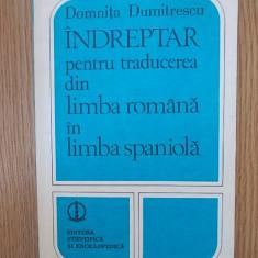 Indreptar pentru traducerea din limba romana in limba spaniola - Curs Limba Spaniola Altele
